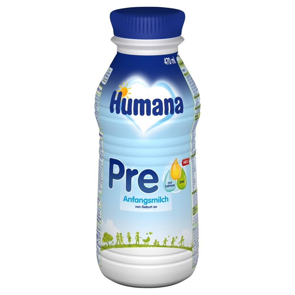 Humana Anfangsmilch PRE trinkfertig (470ml)
