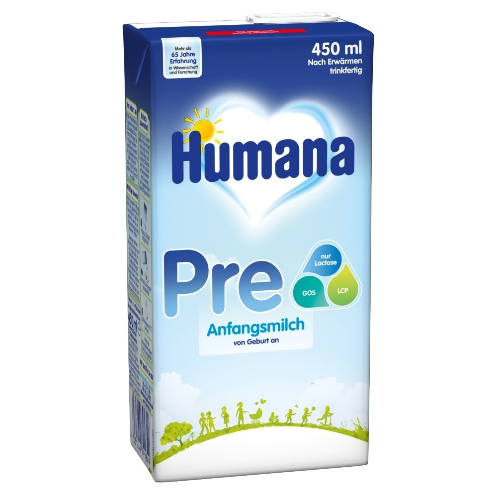 Humana Anfangsmilch PRE trinkfertig (450ml)