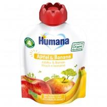 Humana Frucht-Quetschie Apfel & Banane (90g)