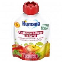 Humana Frucht-Quetschie Erdbeere & Birne in Apfel (90g)