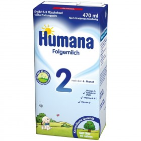 Humana Folgemilch 2 trinkfertig (470 ml)