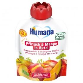Humana Frucht-Quetschie Pfirsich & Mango in Apfel (90g)
