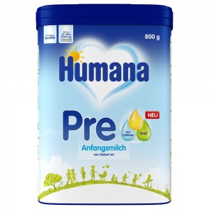 Humana Anfangsmilch PRE 800g 3D